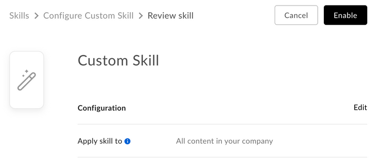 Select a skill to add